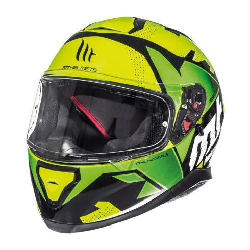 MT Thunder 3 SV Torn citromsárga-zöld